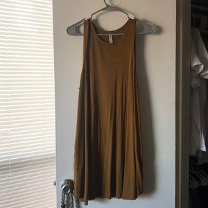 RVCA mustard yellow dress